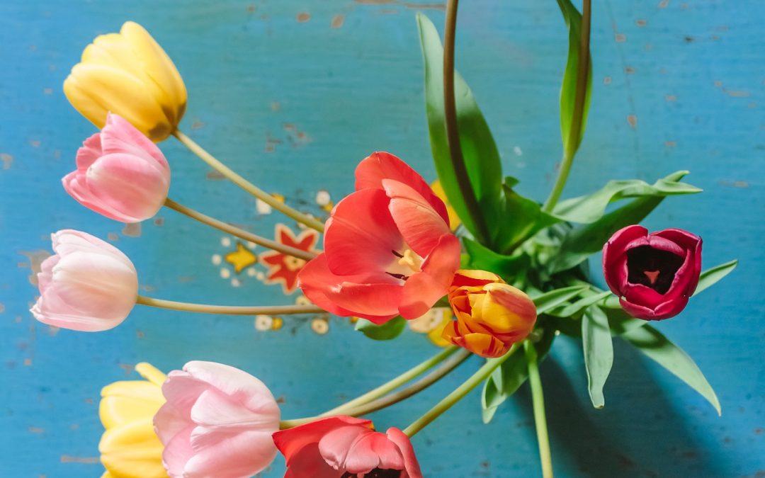 Mit Blumen gegen Corona
